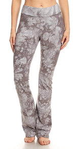 T Party Women's Crystal Wash Tie Dye Foldover Waist Yoga Pants