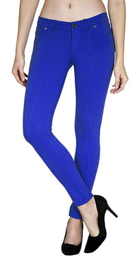 Solid Color Slimming Princess Pleat Skinny Jeans