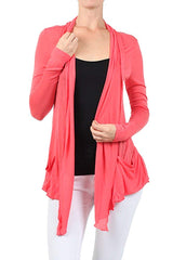 Semi-Sheer Light Weight Open Front Cardigan