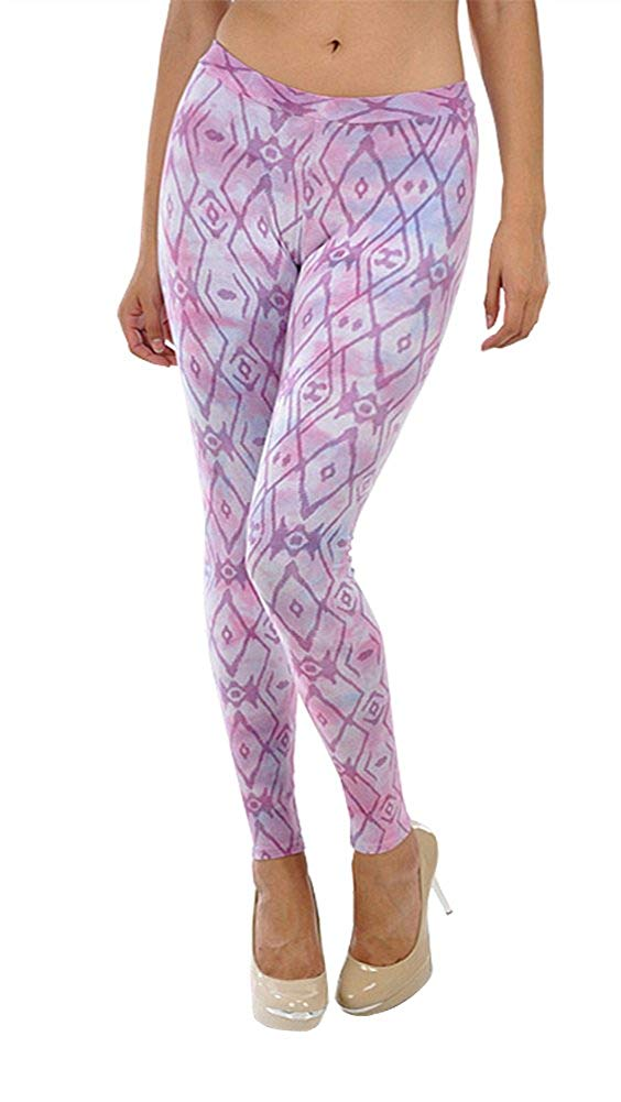 T-Party Purple Tribal Tie Dye Yoga Leggings