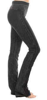 T-Party Skinny Fit Lace Trim Mineral Wash Yoga Pants