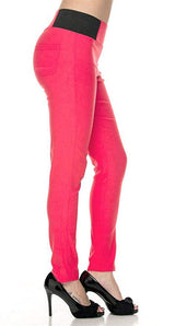 Coral Ponte Leggings