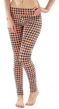 T-Party Neon Houndstooth Yoga Leggings