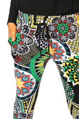 Multi-Color Mandela Print Jogger Pants