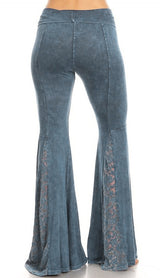 Wide Leg Bell Bottoms in Blue Wash by T-Party