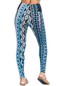 Tribal Print High Waist Thick Ponte Leggings