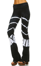URBAN X White Ripple Tie Dye Yoga Pants