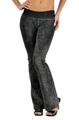 T-Party Basic Mineral Wash Foldover Yoga Pants
