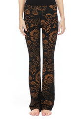 T-Party Antiqued Floral Print Batik Yoga Pants
