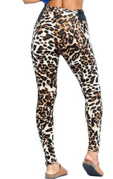 Leopard Print High Waist Thick Ponte Leggings