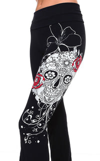 URBAN X Sugar Skull with Rhinestones Yoga Pants