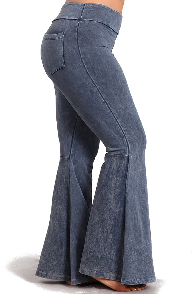 Women's French Terry Bell Bottoms Plus Size