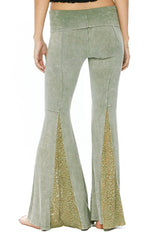 T-Party Mermaid Leg Bell Bottom Pants Made in USA