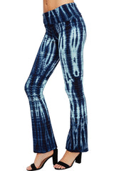 URBAN X Bamboo Blue Stripe Tie Dye Yoga Pants