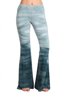 Blue Ombre Tiger Shark Bell Bottom Yoga Pants