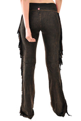 T-Party Fringe Leg Mineral Wash Yoga Pants