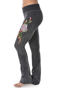 Embroidery Patch Yoga Pants