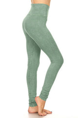 T-Party Sage Green Fitted Yoga Leggings