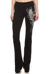 URBAN X Winged Heart and Rhinestones Yoga Pants