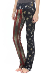 T-Party Patriotic American Flag Yoga Pants