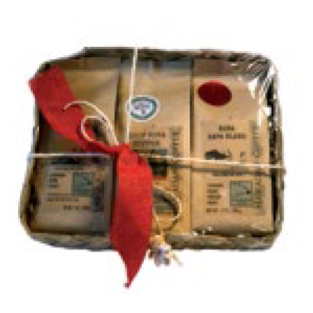 Gift Basket - OHANA Coffee (3) 7 oz. coffees