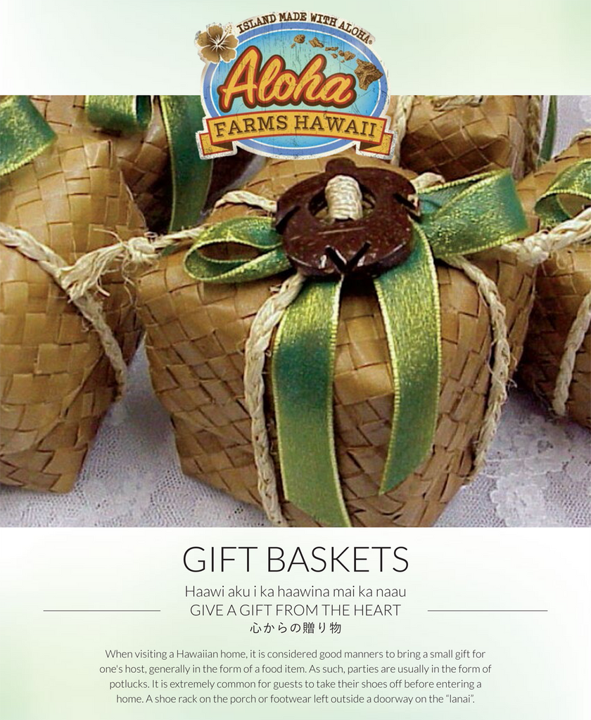 Gift Basket - OHIA (1) 7 oz Coffees (1) Chocolate Mac Nuts (1) Salt