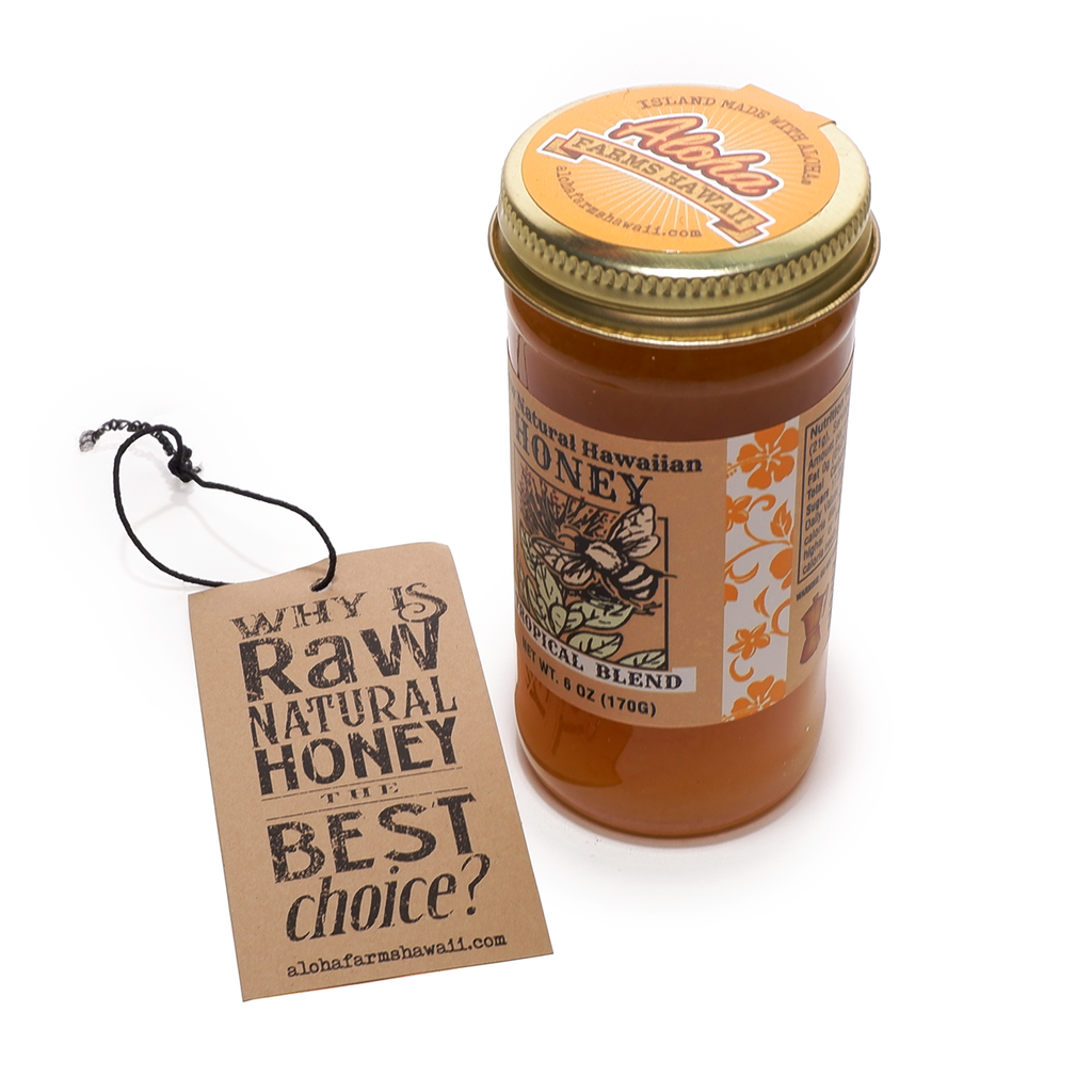 Raw Natural Ka'u Hawaiian Honey - Topical Blossom Blend