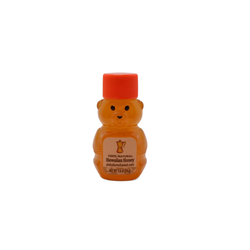 MINI HONEY BEAR Pure Raw Natural Hawaiian Honey - 2.5 oz.