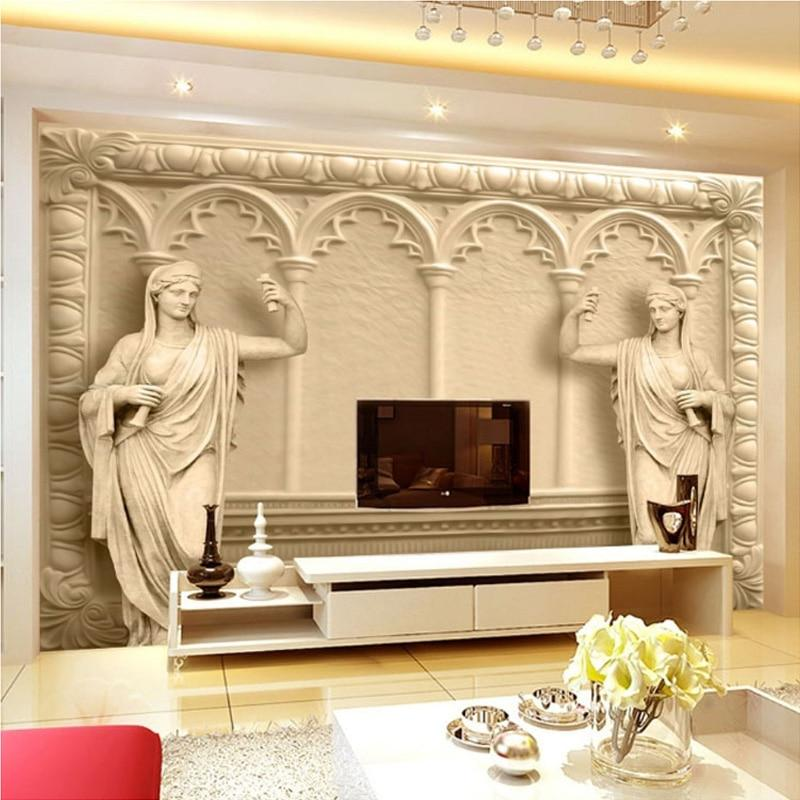 3D European Sculpture Wallpaper Mural, Custom Sizes Available Household-Wallpaper Maughon's