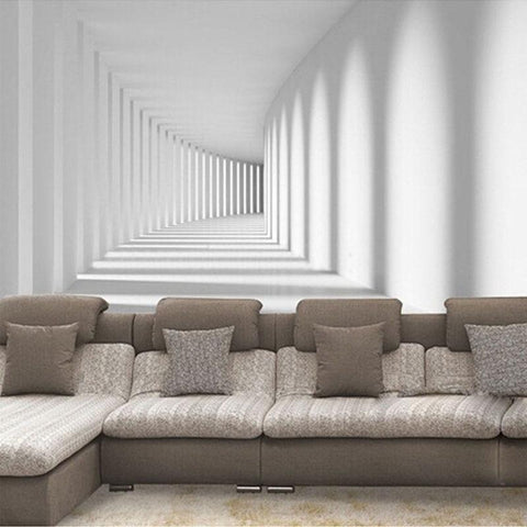 Image of 3D Modern Abstract Passway Art Wallpaper Mural, Custom Sizes Available Household-Wallpaper Maughon's