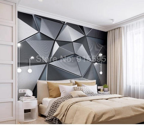 Image of Abstract Geometric Pattern Wallpaper Mural, Custom Sizes Available Household-Wallpaper Maughon's
