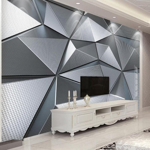 Abstract Geometric Pattern Wallpaper Mural, Custom Sizes Available Household-Wallpaper Maughon's