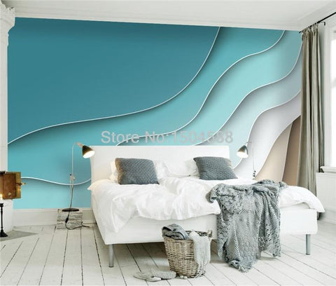 Image of Abstract Line Geometric Pattern Wallpaper Mural, Custom Sizes Available Household-Wallpaper Maughon's