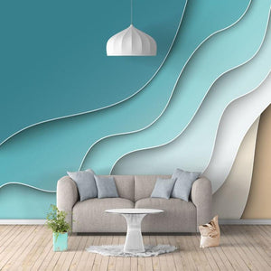 Abstract Line Geometric Pattern Wallpaper Mural, Custom Sizes Available