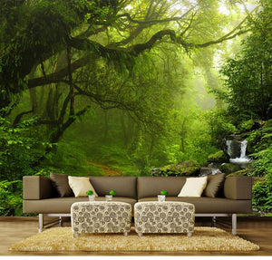 Beautiful Forest and Stream Wallpaper Mural, Custom Sizes Available Household-Wallpaper Maughon's