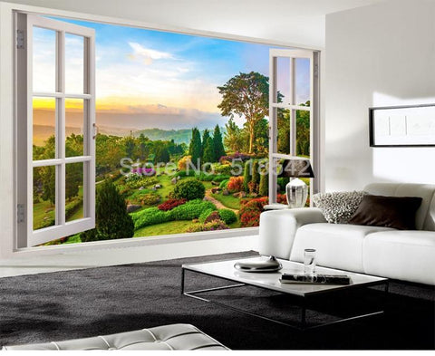 Image of Beautiful Idyllic Landscape Wallpaper Mural, Custom Sizes Available Household-Wallpaper Maughon's