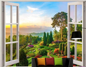 Beautiful Idyllic Landscape Wallpaper Mural, Custom Sizes Available