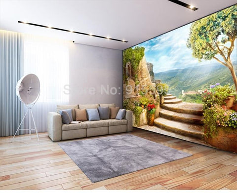 Image of Beautiful Stone Walkway Wallpaper Mural, Custom Sizes Available Household-Wallpaper Maughon's