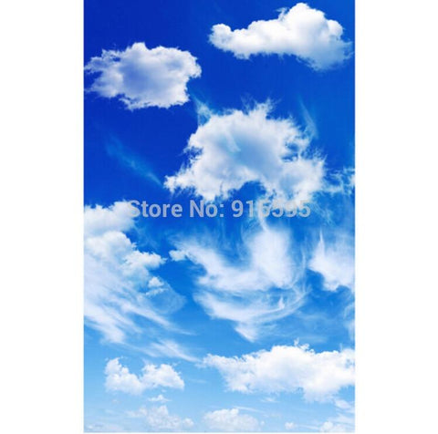 Image of Blue Sky And White Clouds Ceiling Wallpaper Mural, Custom Sizes Available Household-Wallpaper-Ceiling Maughon's