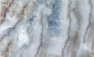 Blue/Gray Marble Stone Wallpaper Mural, Custom Sizes Available
