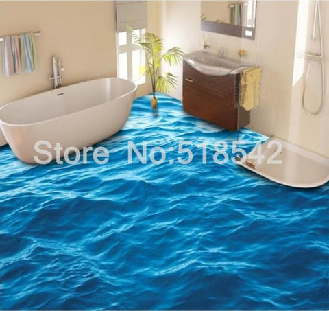 Calm Water PVC Vinyl Floor Mural, Self-Adhesive, Custom Sizes Available Household-Wallpaper-Floor Maughon's