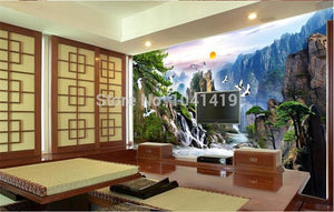 Chinese Style Landscape Paintings Wallpaper Mural, Custom Sizes Available Household-Wallpaper Maughon's