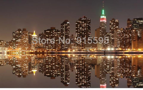 City Night View Wallpaper Mural, Custom Sizes Available Household-Wallpaper Maughon's