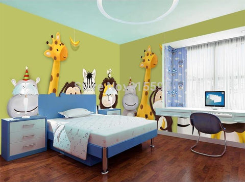Image of Cute Animals Wallpaper Mural, Custom Sizes Available Household-Wallpaper Maughon's