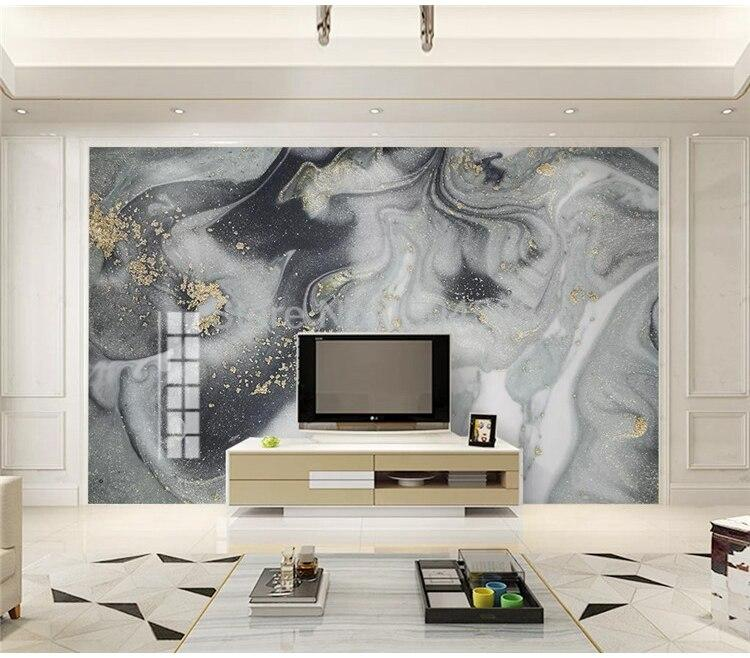 Dark Gray, Gray and White Marble Wallpaper Mural, Custom Sizes Available Household-Wallpaper Maughon's
