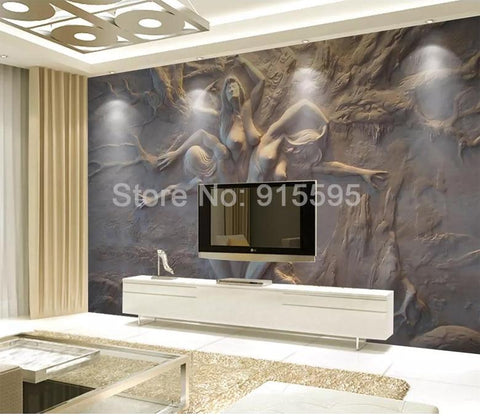 European 3D Stereoscopic Abstract Wallpaper Mural, Custom Sizes Available Household-Wallpaper Maughon's
