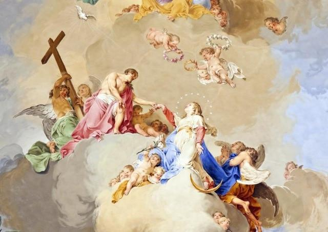 European Religious Wallpaper Murals, One Square Meter (10.764 sq/ft), 24 Scenes Household-Wallpaper Maughon's 1-23 10.76sq/ft