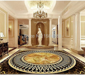 European Style Marble-look Vinyl PVC Floor Mural, Self Adhesive, Custom Sizes Available Household-Wallpaper-Floor Maughon's