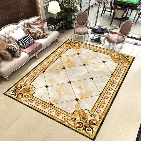 Image of European Style Rug Vinyl PVC Floor Mural, Self Adhesive, Custom Sizes Available Household-Wallpaper-Floor Maughon's