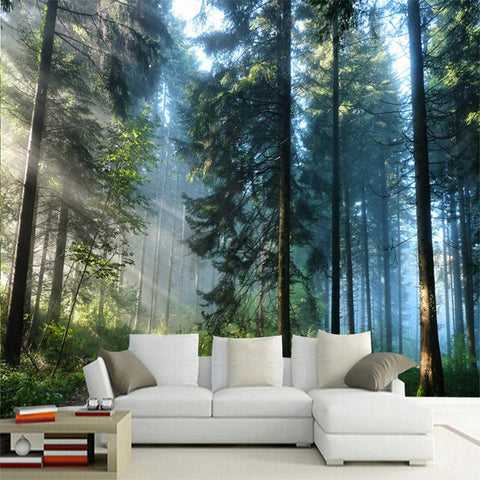 Evergreen Forest Wallpaper Mural, Custom Sizes Available Household-Wallpaper Maughon's